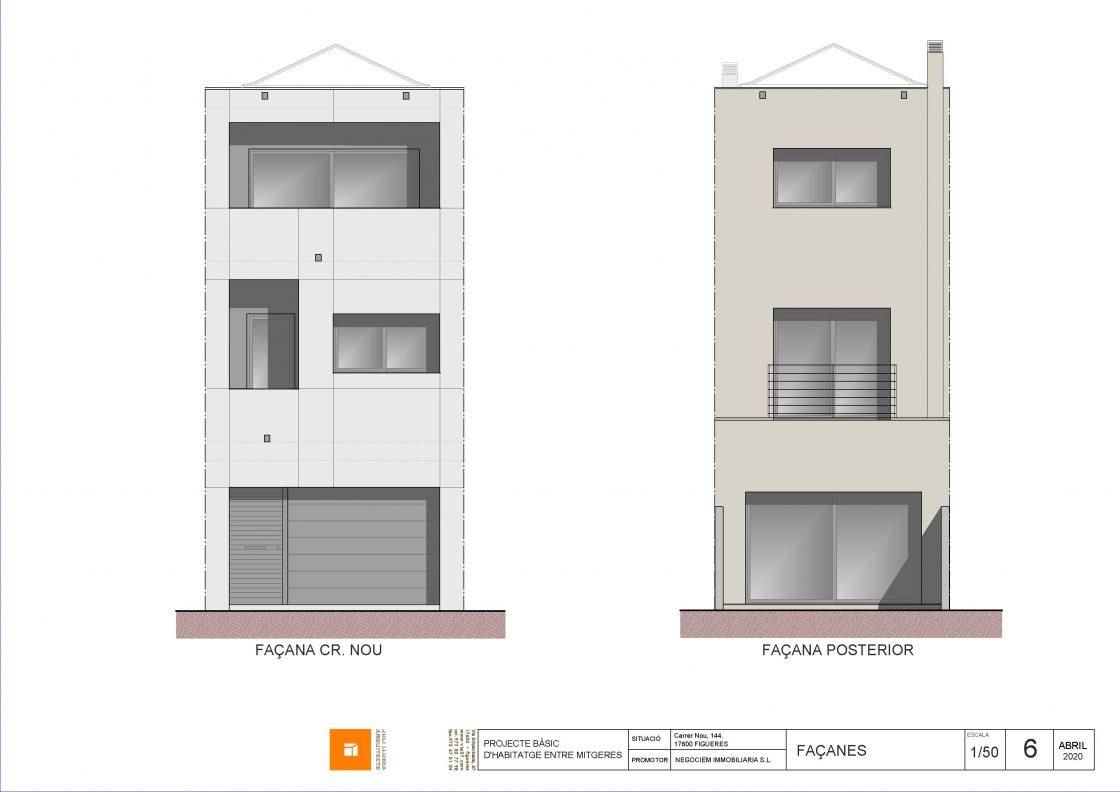 Venta casa en construcción carrer Nou de Figueres
